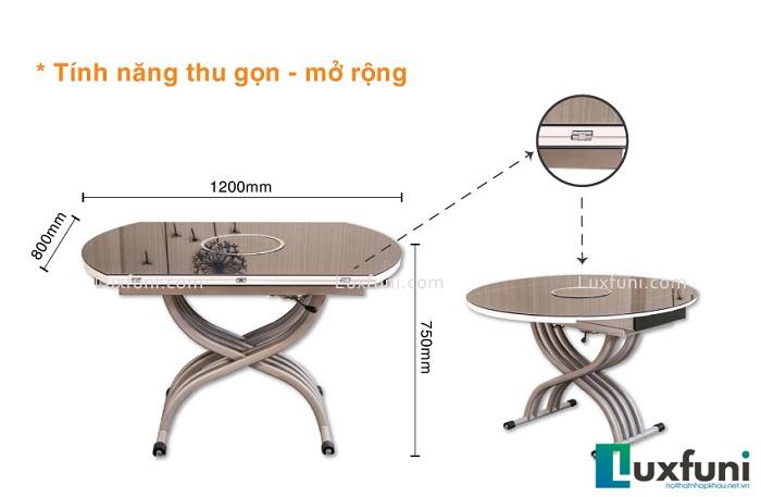 Tổng hợp những mẫu bàn ăn gấp thông minh cho nhà chật-3