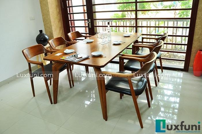 Những mẫu bàn ăn gỗ đẹp hiện đại và sang chảnh-1