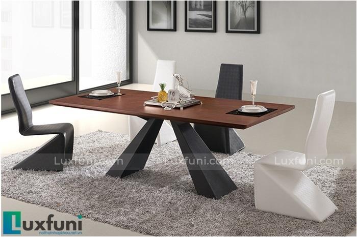 Những mẫu bàn ăn gỗ đẹp hiện đại và sang chảnh-2