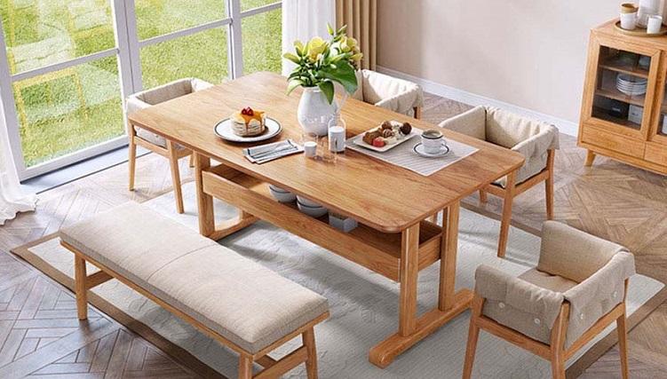 Những thiết kế bàn ăn gỗ sồi hiện đại bán chạy nhất hiện nay