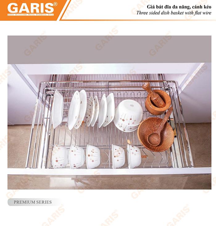 Giá xoong nồi bát đĩa đa năng Garis-1