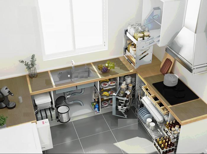 Phụ kiện bếp giúp gia đình bạn tiết kiệm không gian sống