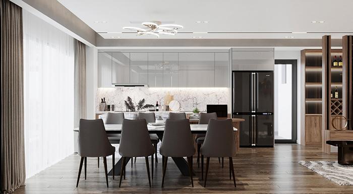 Tủ bếp phủ Acrylic cao cấp