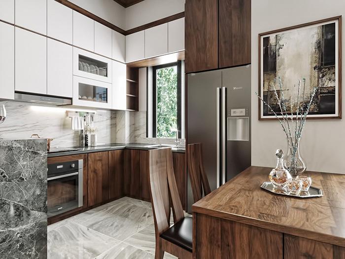 Mẫu tủ bếp acrylic đẹp cao cấp