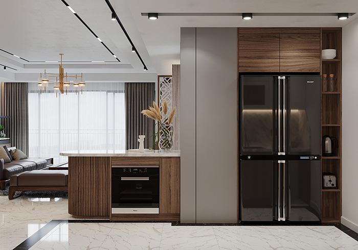Mẫu tủ bếp phủ Acrylic cao cấp
