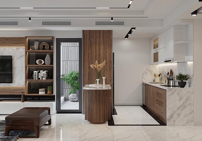 Tủ bếp gỗ MDF cao cấp