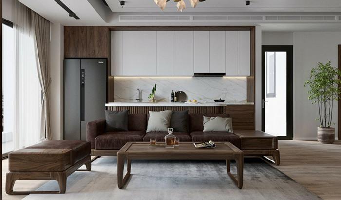 Tủ bếp gỗ chữ I