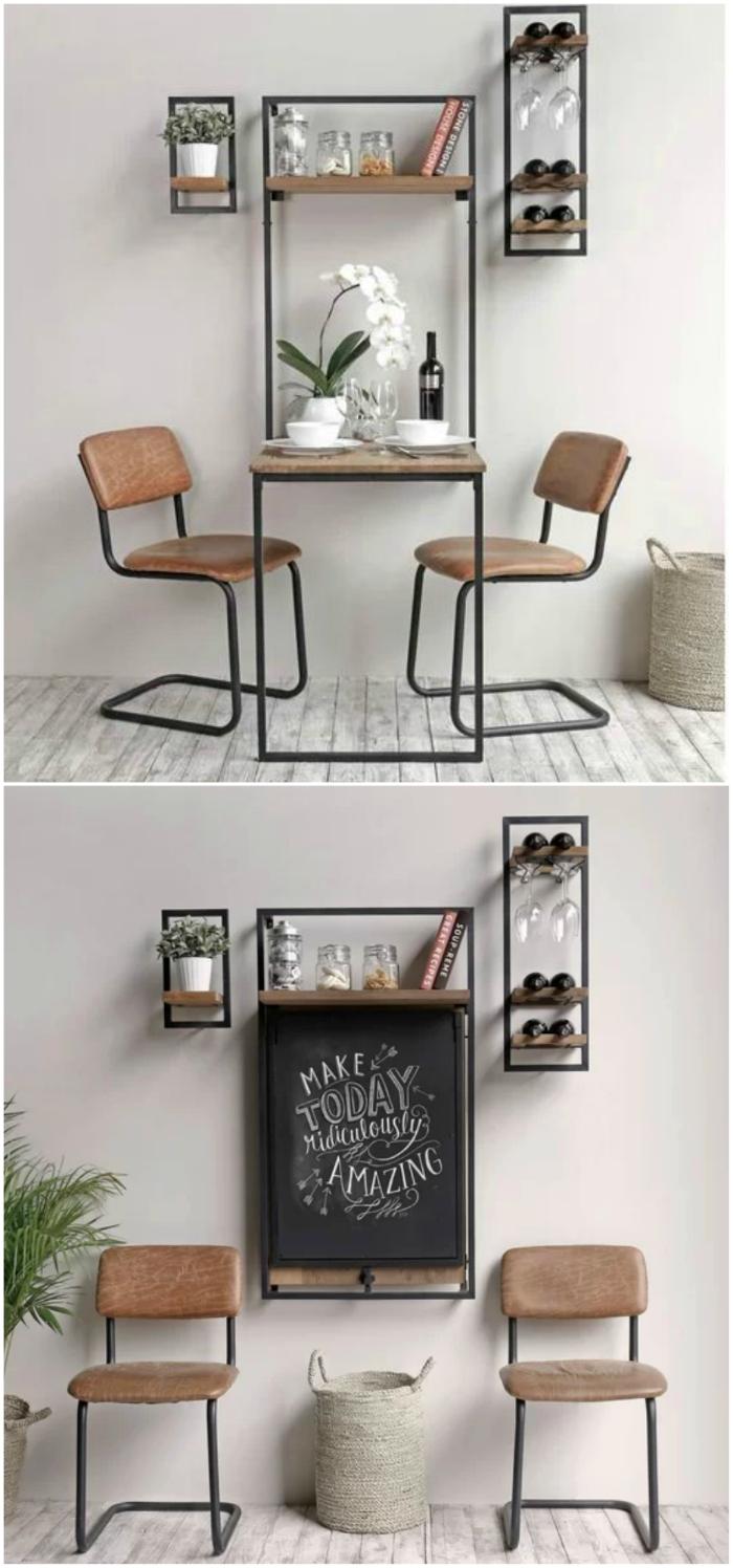 Những ý tưởng bàn ăn cho nhà nhỏ độc đáo và tiết kiệm diện tích -4