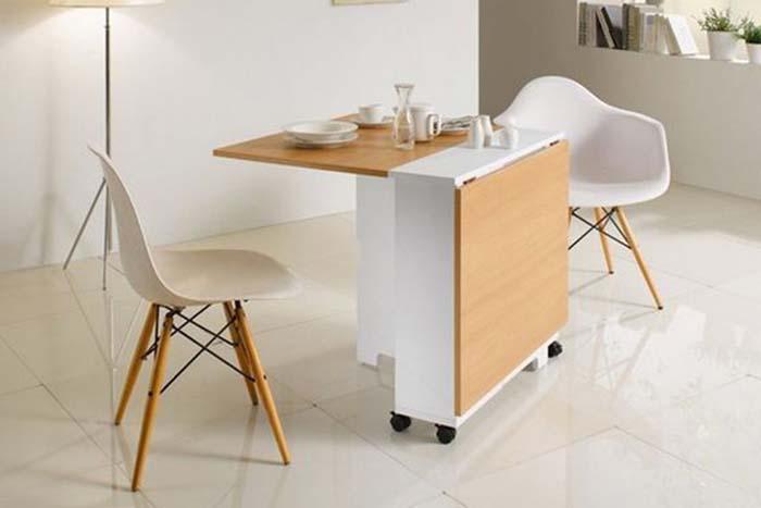 Những ý tưởng bàn ăn cho nhà nhỏ độc đáo và tiết kiệm diện tích -5