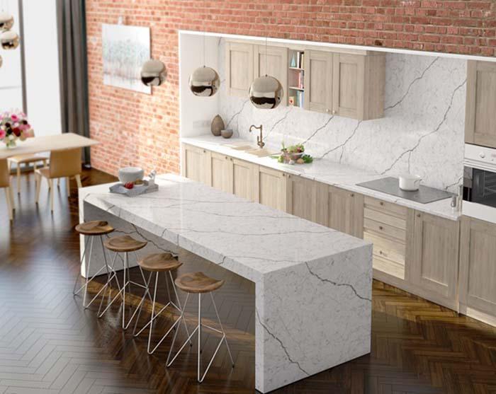 Chất liệu đá ốp bàn bếp mang đến sự hiện đại