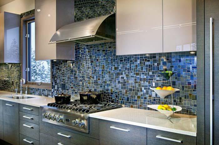 Gạch ốp tường phòng bếp mosaic cực chất