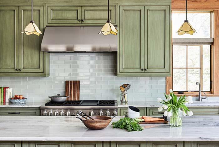 Thiết kế nội thất phòng bếp chất liệu đá mang đến nét đẹp sang trọng