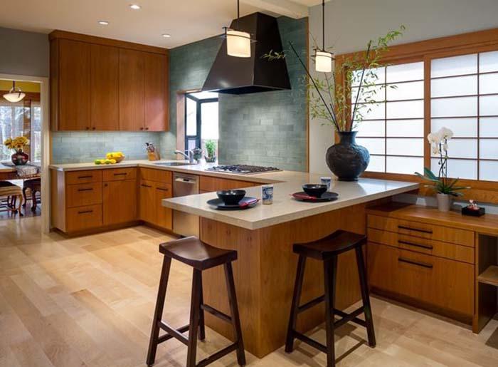 Phòng bếp thiết kế theo kiểu Nhật Bản