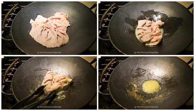Bí quyết làm sạch dạ dày heo với bột mì