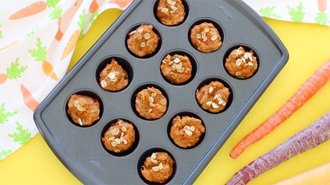 Cách làm bánh carot dinh dưỡng cho bé ăn dặm