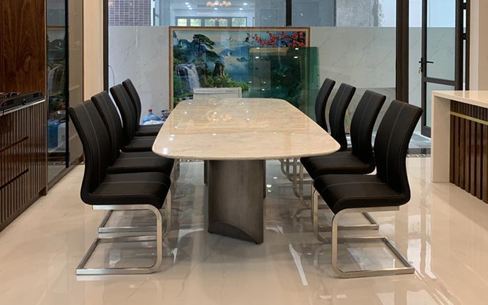 Hình ảnh thực tế của mẫu bàn ăn TC8276 tại nhà khách hàng
