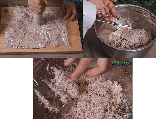 Cách làm chà bông (ruốc) mềm bông để được lâu